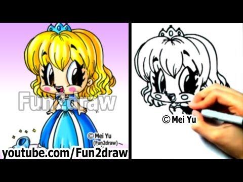 How to Draw Princess, Cinderella - Art Lessons - Draw People - Fun2draw