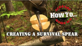 How to Make a Survival Spear- Best Bushcraft Survival Knife Schrade.