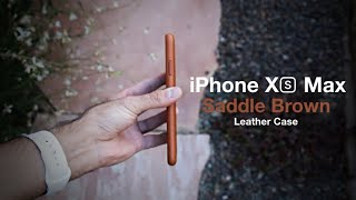 Apple iPhone XS Max Brown Leather Case Review!