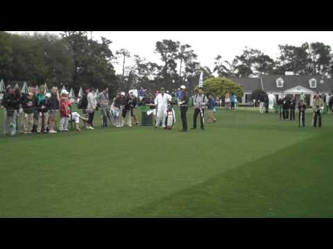 Hideki Matsuyama tees off at Augusta
