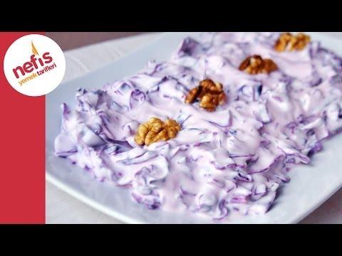 Mor Lahana Mezesi   Nefis Yemek Tarifleri