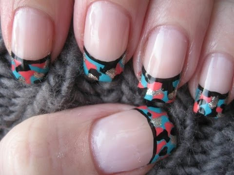 Nail art: Funky camouflage