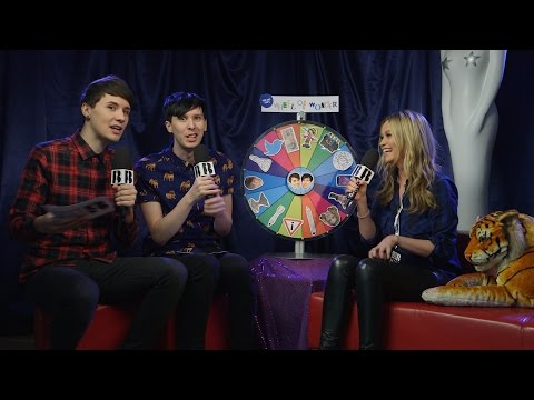 Dan and Phil's Wheel of Wonder with Laura Whitmore I The BRIT Awards 2016