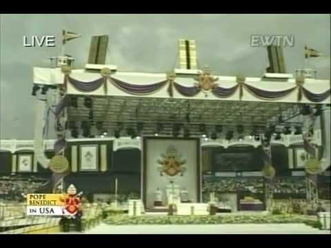 Pope Benedict XVI Celebrates Mass At Yankee Stadium