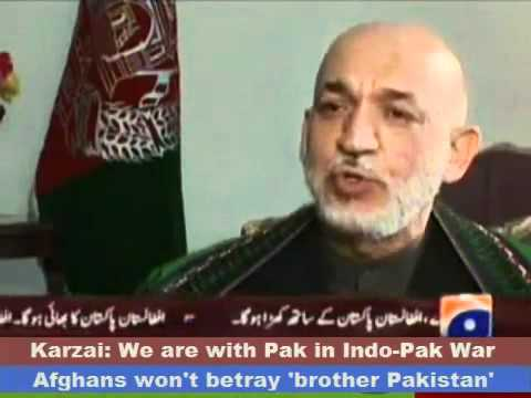 Afghanistan would back Pakistan in war with India: KARZAI