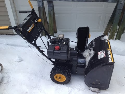MTD Yard Machine Snow Blower Remove Drive Cable Part 1 of 2