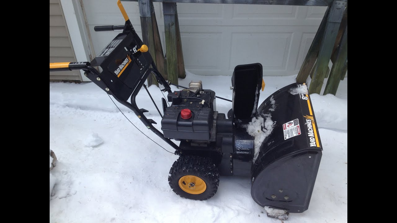 MTD    Yard Machine Snow Blower Remove Drive Cable Part 1 of