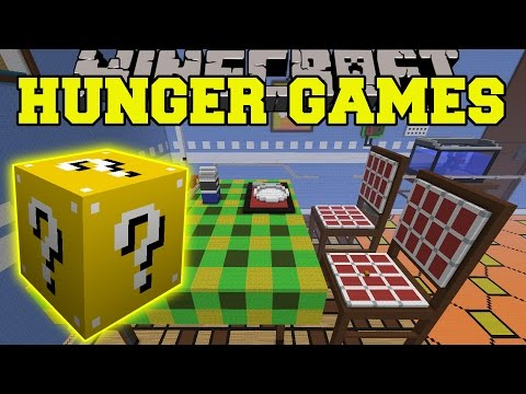 Minecraft: The Dropper Kitchen Hunger Games - Lucky Block Mod - Modded Mini-game video