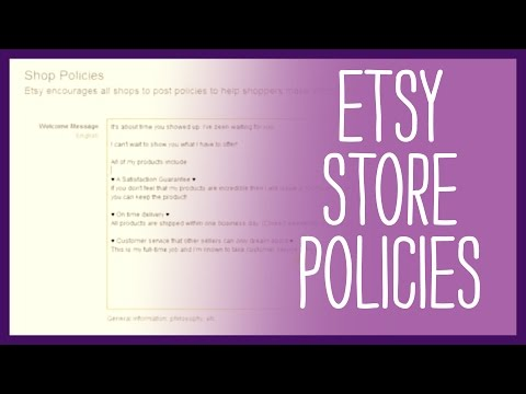 Etsy Shop - How to Set up Etsy Store Policies - Updated