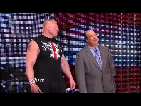 Triple H and Brock Lesnar go face-to-face: Raw, May 13, 2013