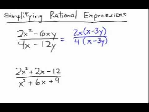 How to Simplify Rational Expressions: Using GCF & Factoring - YouTube