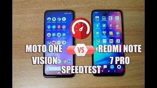 Moto One Vision vs Redmi Note 7 Pro Speedtest (Exynos 9609 vs SD 675) Comparison