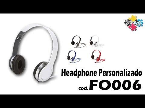 Headphone Dobrável FO006 Personalizado - Criative Brindes