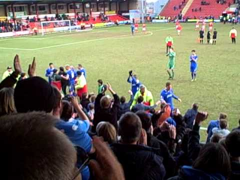 Crewe vs Pompey | Final Whistle and Celebrations | 02/03/2013