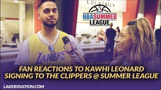 Lakers Summer League: Fan Reactions to Kawhi Signing, Lakers Starting Lineups, & Better LA Duo