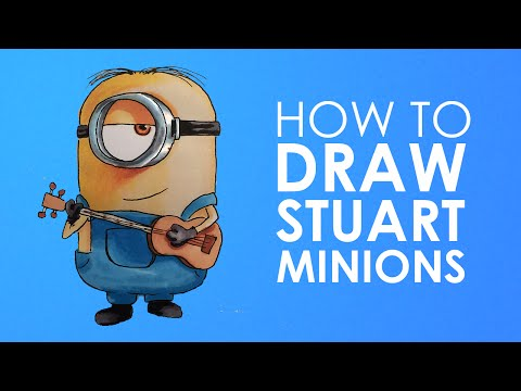 How to draw Sutart minion from Minions easy step by step video lesson for beginners