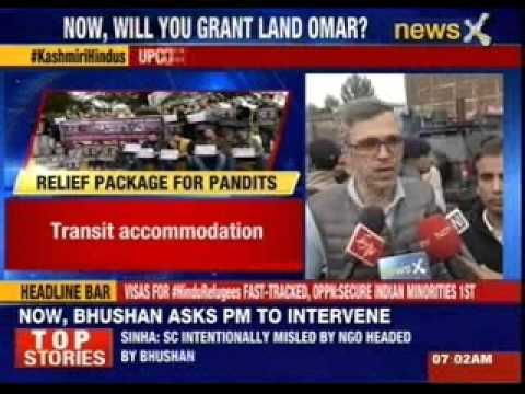 Rajnath asks Omar Abdullah to identify land for Hindus