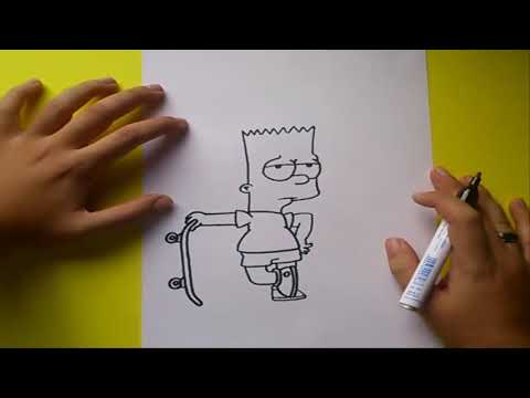 Como dibujar a Bart simpson paso a paso 2 - Los Simpsons | How to draw Bart - The Simpsons 2