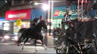 Keanu Reeves Does His Own Crazy Stunts for 'John Wick 3' as Stunt Double Watches
