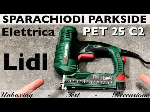 Graffatrice videolike for Parkside pistola sparapunti elettrica