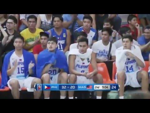 Gilas Pilipinas Cadets vs Malaysia - 2nd Quarter - 5th SEABA Stankovic Cup | May 22,2016