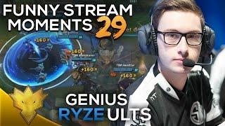 TSM Bjergsen's INSANE Ryze Ults! - League of Legends Funny Stream Moments #29 - Best LoL Moments