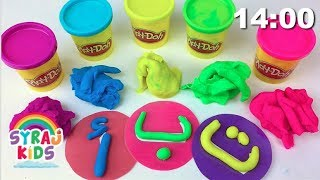 PLAY DOH | How to Make Arabic Alphabet Letters | Play & Learn | Syraj Kids ا ب ت
