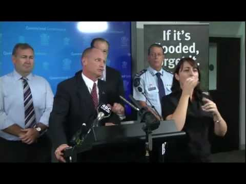 Media conference with Premier - flooding in Queensland 2pm 27 Jan 2013