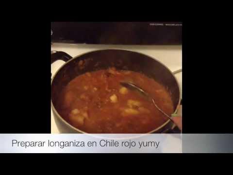 🔅🔅🔅Como Preparar Longaniza En Chile Rojo Con Papas🔅🔅🔅