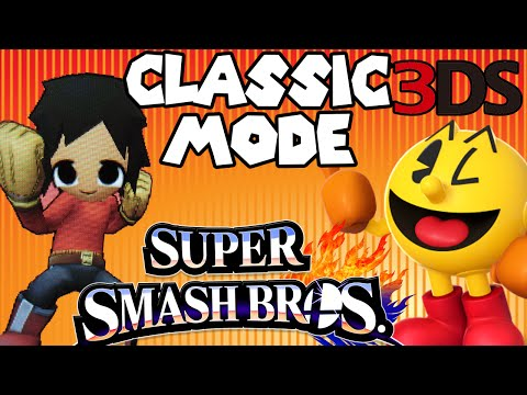 ABM: Super Smash Bros 3ds *classic Mode* 3 Gameplay HD!!