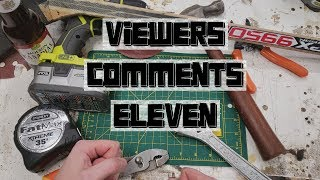 DIY Builds - Viewer's Comments #11