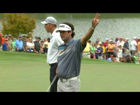 Bubba Watson closes with a 42-foot birdie putt at TOUR Championship