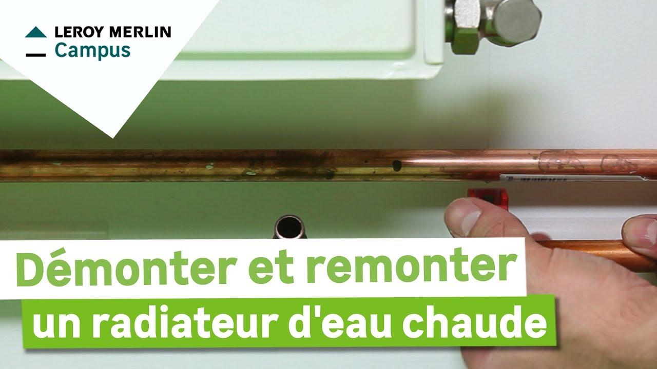 Comment d monter et remonter un radiateur eau chaude leroy merlin youtube - Comment demonter un radiateur ...