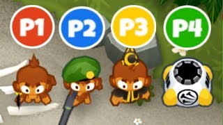 Co-op CHIMPS Mode But Everyone Gets 1 Tower Type! (Bloons TD 6)