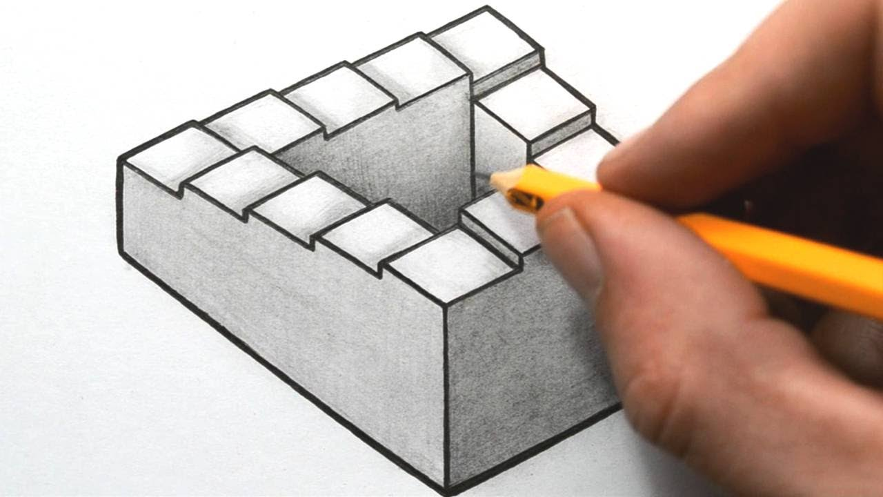 3d Staircase Drawing Draw a Penrose Staircase