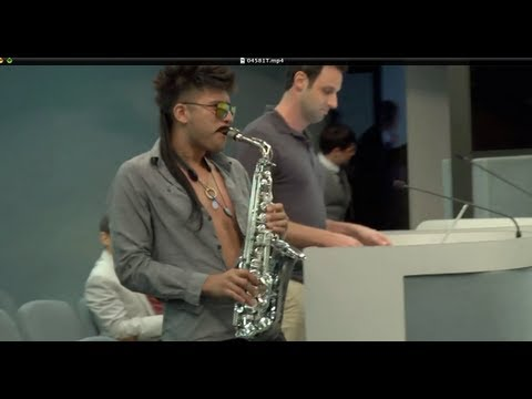 Sexy Sax Man Surprises The Mayor At Miami Beach City Hall video