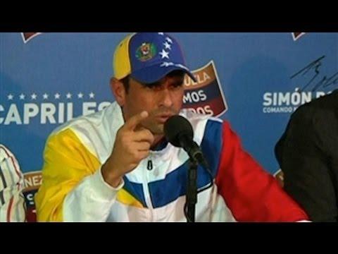 Capriles habla de crisis política y pide a sus partidarios se retraigan