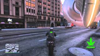 GTA 5 ONLINE DEATH BY UFO !! AFTER 1 16...!!! with K of G^^