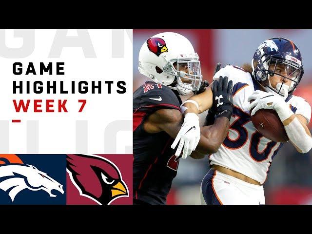 Broncos vs. Cardinals Week 7 Highlights  NFL 2018