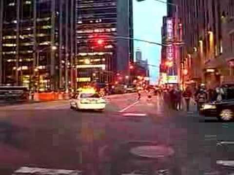 VIP motorcade in NYC