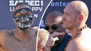Deontay Wilder vs. Tyson Fury FULL WEIGH IN & FINAL FACE OFF