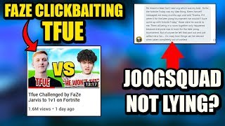 Tfue Being CLICKBAITED By FaZe STILL..? Joogsquad Tells Me Keem LIED!