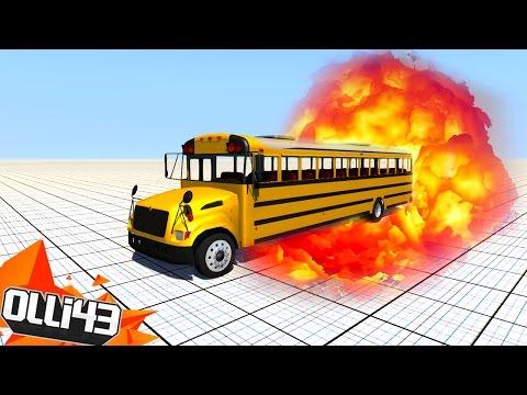SCHOOL BUS DESTRUCTION!! (BeamNG Drive Stress Test!)
