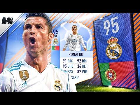 95 ST RONALDO IN A PACK!! FIFA 18 TOTGS RONALDO REVIEW 95 | FIFA 18 ULTIMATE TEAM