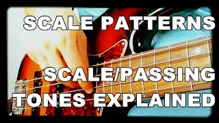 Walking Bass Lessons - L#1 Scale Patterns - Scale/Passing Tones Explained