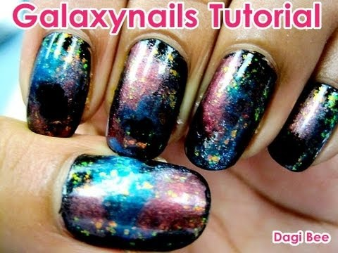 galaxy nails tutorial dagi bee youtube. Black Bedroom Furniture Sets. Home Design Ideas