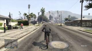 GTA 5 - BMX Bike Gameplay + Grove Street Easter Egg