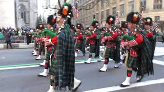 St. Patrick's Day Parade~2018~FDNY Emerald Society Pipes and Drum Band~NYCParadelife