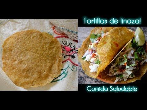 Tortillas de Linaza! Receta Saludable
