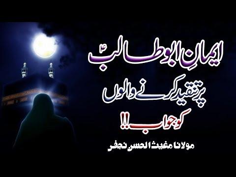 Eman-E-Abu Talib (a.s) Par Tanqeed Karny Walon Ko Jawab !! | Maulana Mughees-Ul-Hassan Najafi | 4K